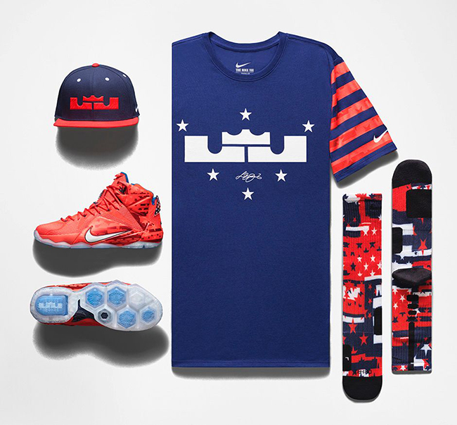 the best attitude 8435d 213fd Nike LeBron 12 4th of July