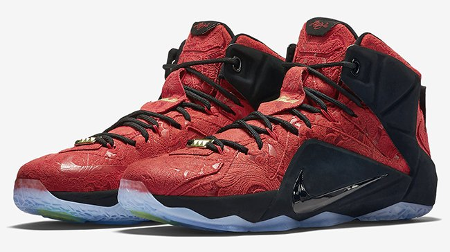 huge selection of ef25d 9b6fa Nike LeBron 12 EXT Red Paisley