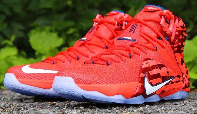 443b1f50afa3 Nike LeBron 12 USA Independence Day