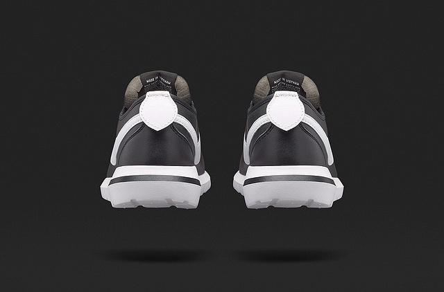 NikeLab Roshe Cortez Black White