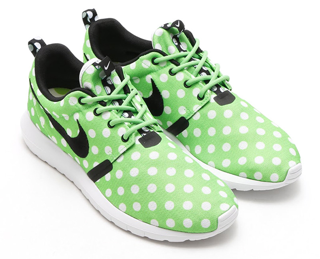 Nike Roshe Run NM Polka Dot Green