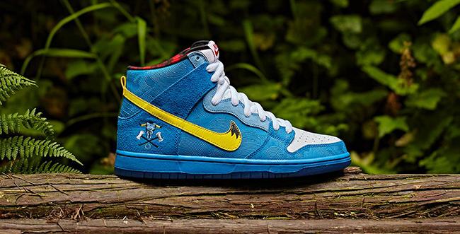 Familia Nike SB Dunk High Blue Ox