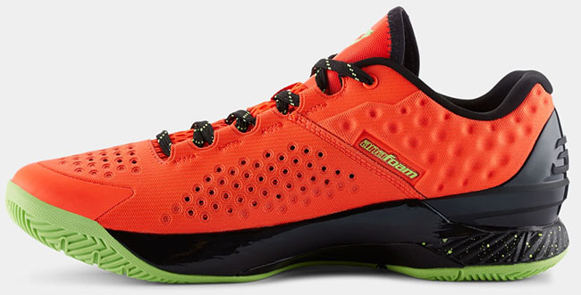 Under Armour Curry One Low Orange Black Green