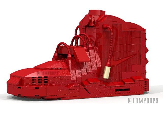 Lego Nike Air Yeezy 2 Red October