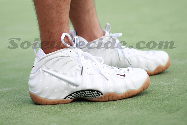 Nike Air Foamposite Pro White Gucci On Feet