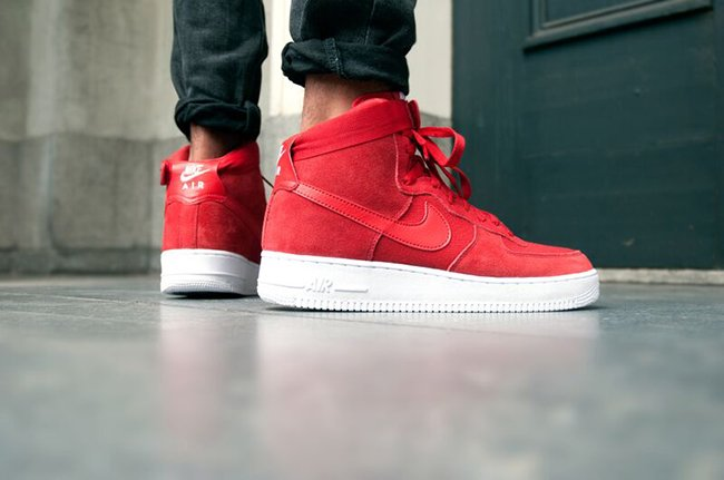 Nike Air Force 1 High Red Suede | SneakerFiles