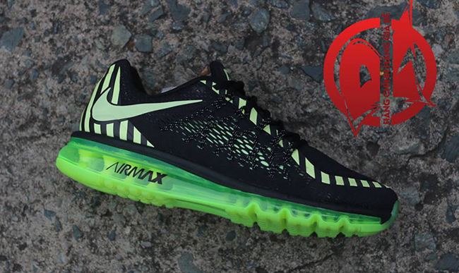 Nike Air Max 2015 Black Volt Stripe