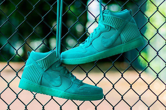 Nike Dunk High Green Glow