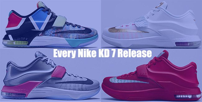 10bad7b66c7 Nike KD 7 Colorways Price Release Date