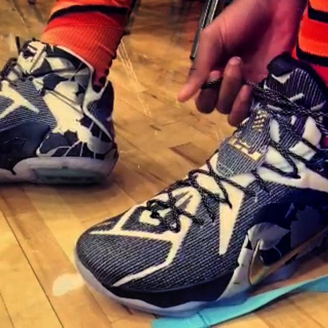 Nike LeBron 12 EYBL Peach Jam Finals PE