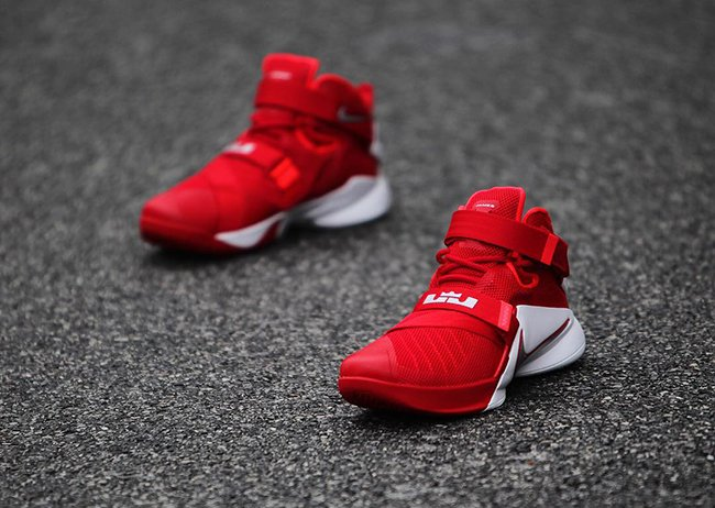 LeBron Soldier 9 Ohio State which shares the same colors as theLebron Soldier 9