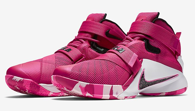 best sneakers 6240c 323d6 Nike LeBron Soldier 9 Think Pink