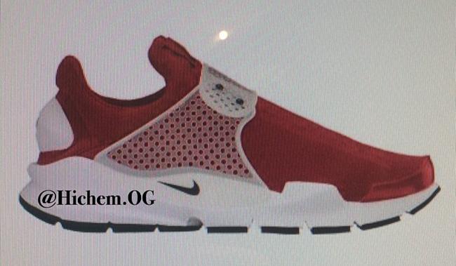 Nike Sock Dart 2016 Gym Red