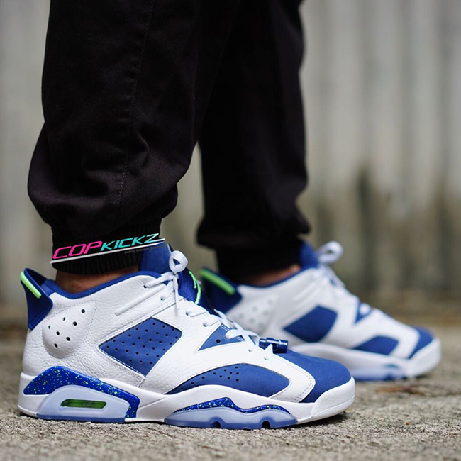 Air Jordan 6 Low Ghost Green On Feet