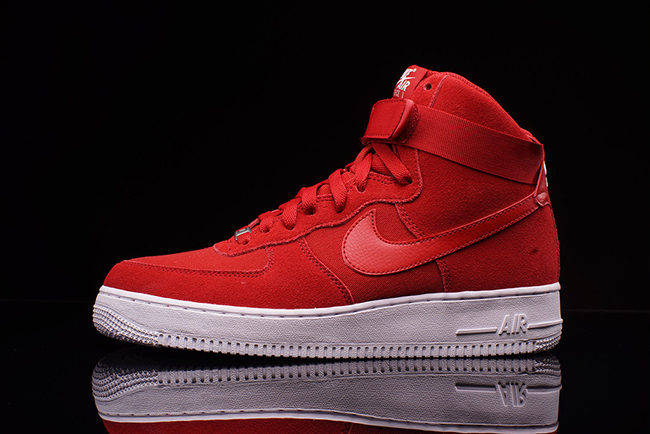 Nike Air Force 1 High Red Suede