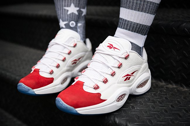 Reebok Question Low White Red Releasing