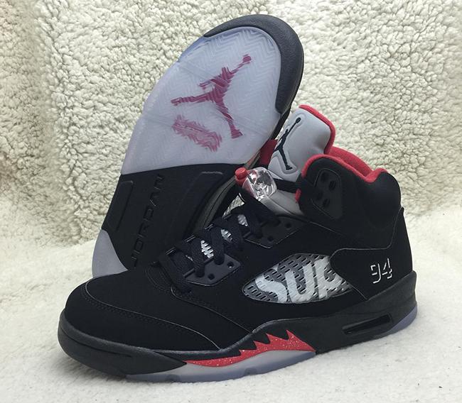 Supreme Air Jordan 5 Black