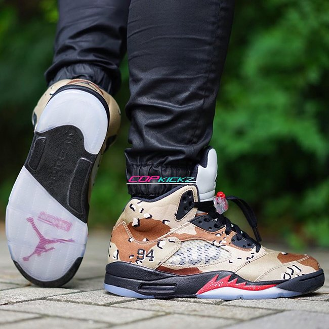 finest selection 1c825 b6989 Supreme Air Jordan 5 Camo | SneakerFiles