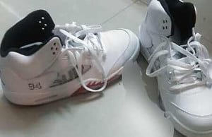 Supreme Air Jordan 5 White