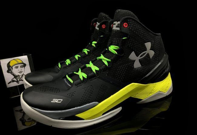 Under Armour Curry 2 Black Yellow Green