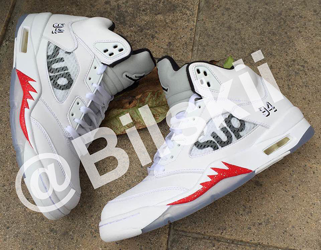 Supreme x Air Jordan 5 White