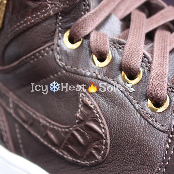 Air Jordan 1 Pinnacle Brown Croc