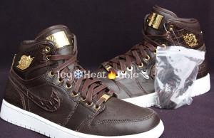 Air Jordan 1 Pinnacle Brown Croc