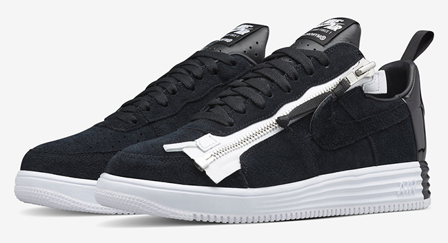 Acronym Nike Lunar Force 1 SP Zip Black White