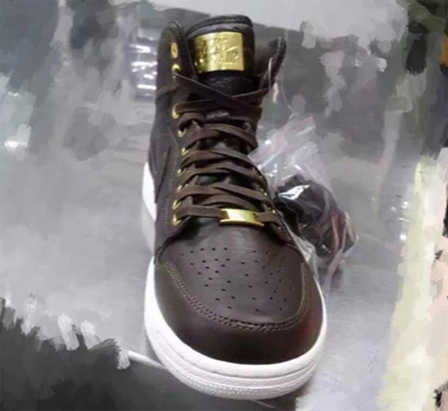 Air Jordan 1 Pinnacle Croc Brown Sample