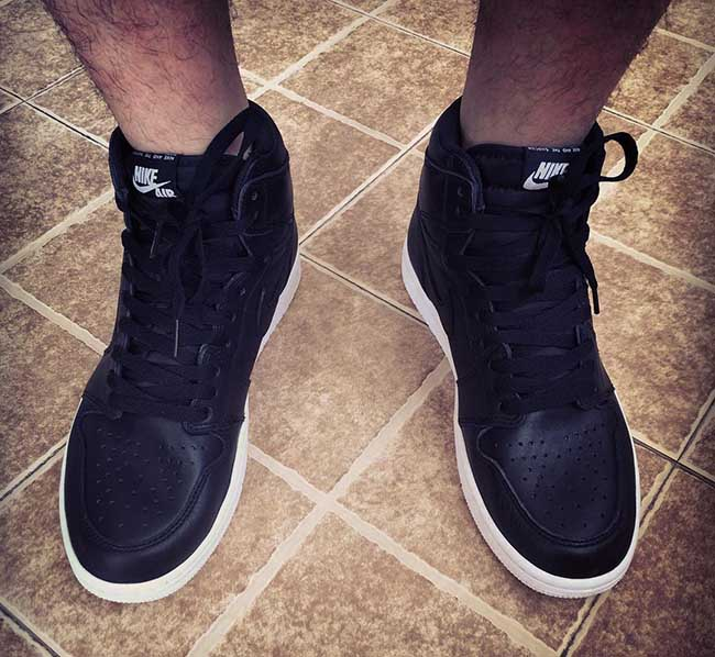 Air Jordan 1 Retro High OG Black White On Feet