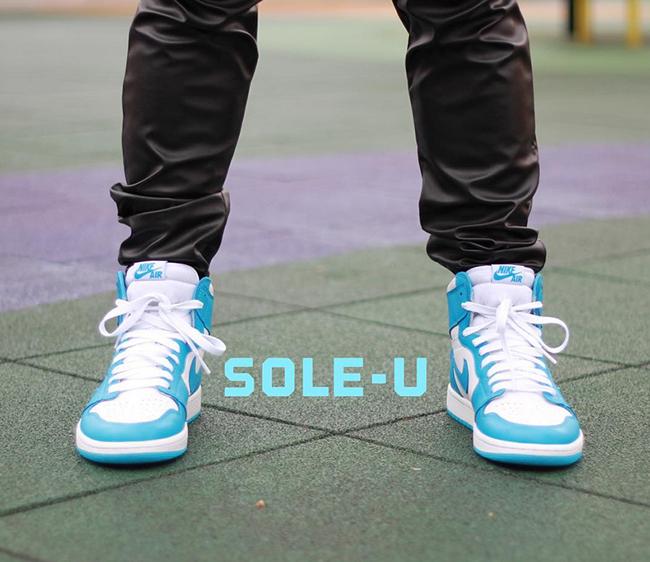 new styles b6021 e7d25 Air Jordan 1 Retro High OG UNC On Feet