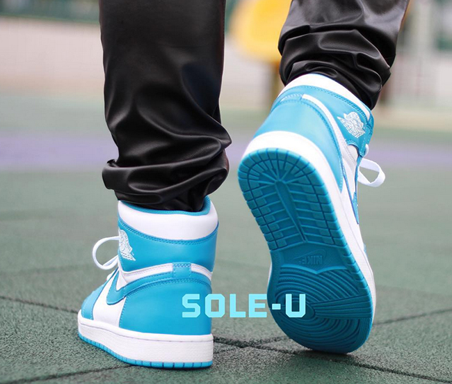 Air Jordan 1 Retro High OG UNC On Feet