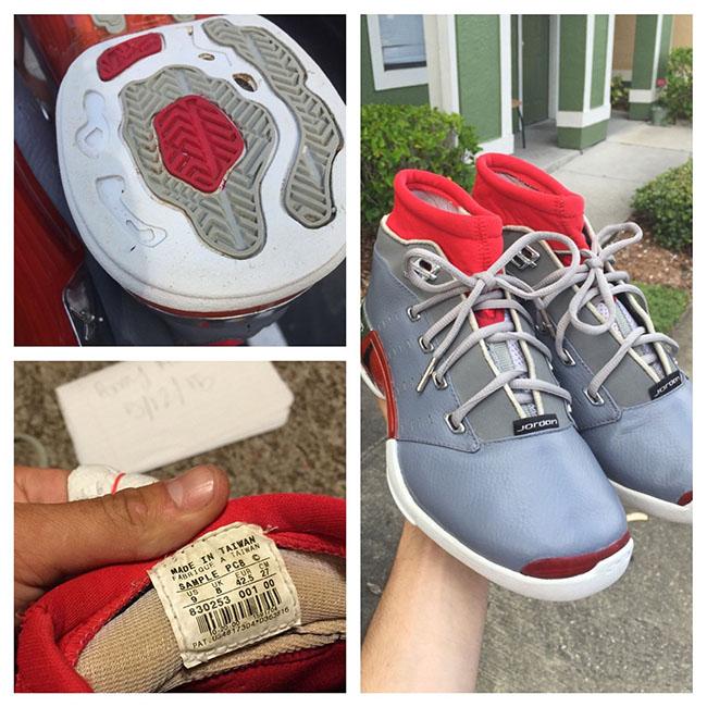 Air Jordan 17 Grey Red Original Sample