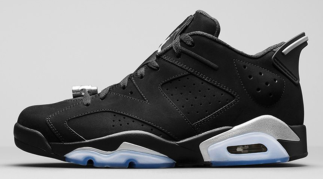 Air Jordan 6 Low Black Chrome