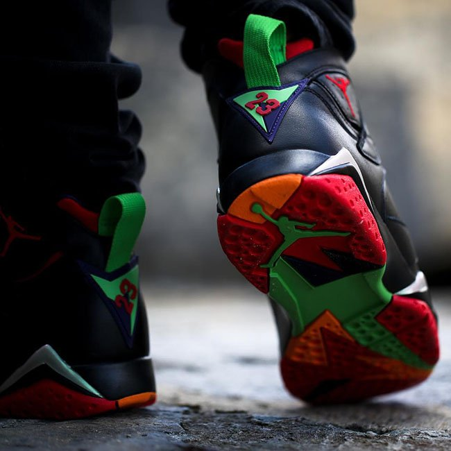 Air Jordan 7 Marvin the Martian On Feet