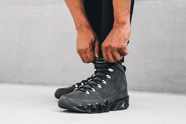 Air Jordan 9 Anthracite On Feet