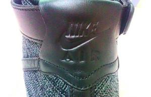 Black Nike Flyknit Air Force 1