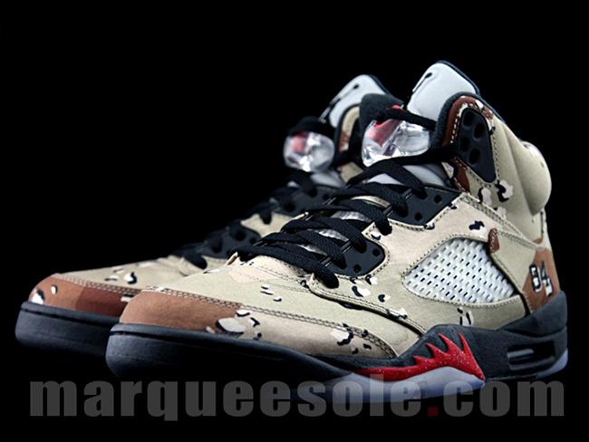 Supreme x Air Jordan 5 Desert Camo