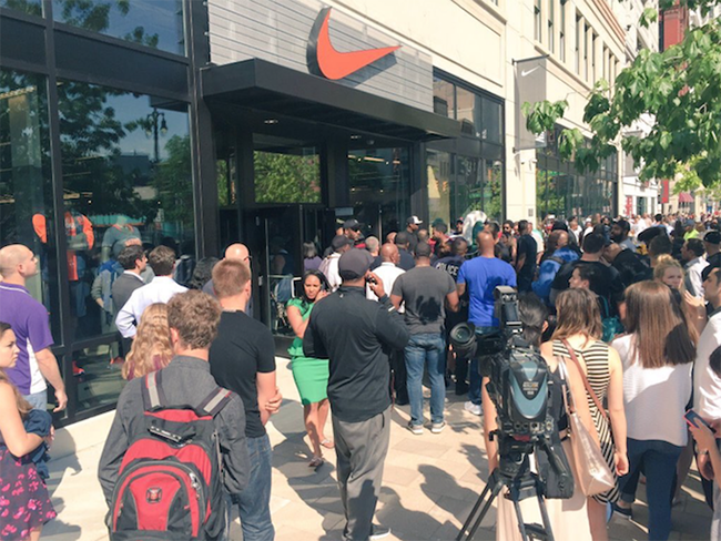 Detroit Nike Store Grand Opening