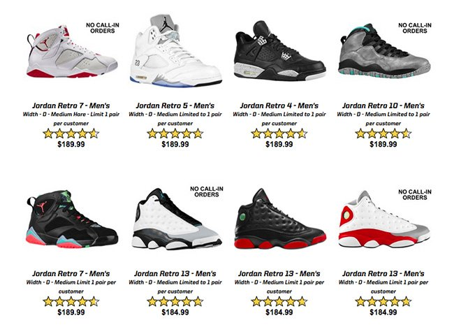 EastBay Air Jordan Restock August 2015