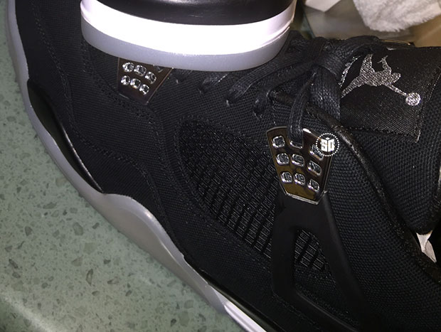 Eminem Air Jordan 4 Black Chrome 2015