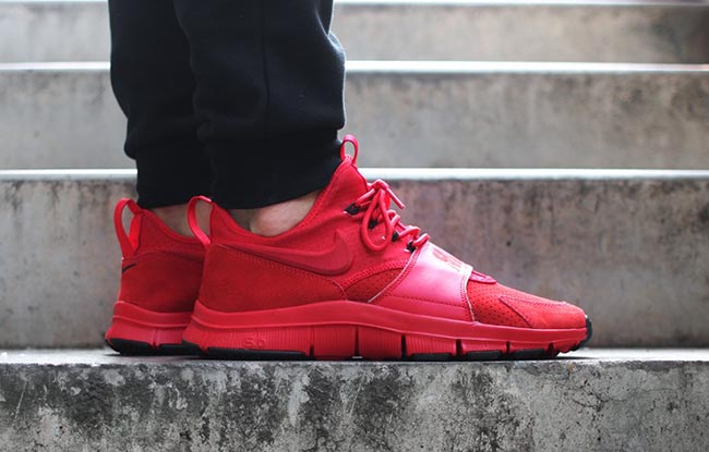 nike free ace leather university red and black