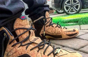Nike LeBron 12 EXT Kings Cork On Feet