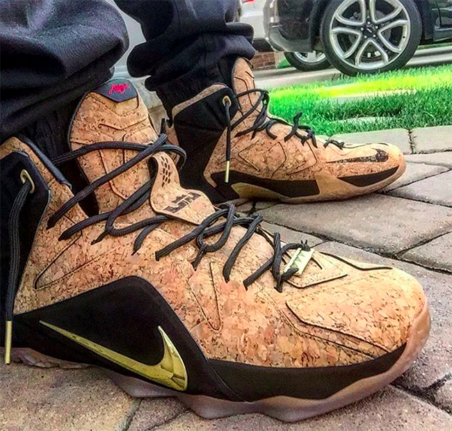 Nike LeBron 12 EXT Kings Cork On Feet