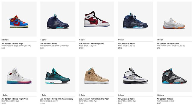 wholesale dealer 8862d d9695 Nike Store Kids Air Jordan Restock