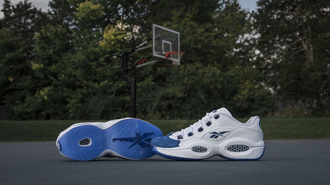 Reebok Question Low Blue Toe