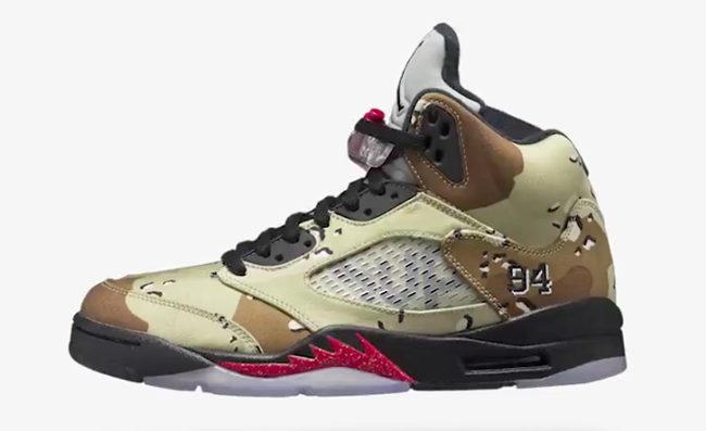 Supreme x Air Jordan 5 Camo NikeLab