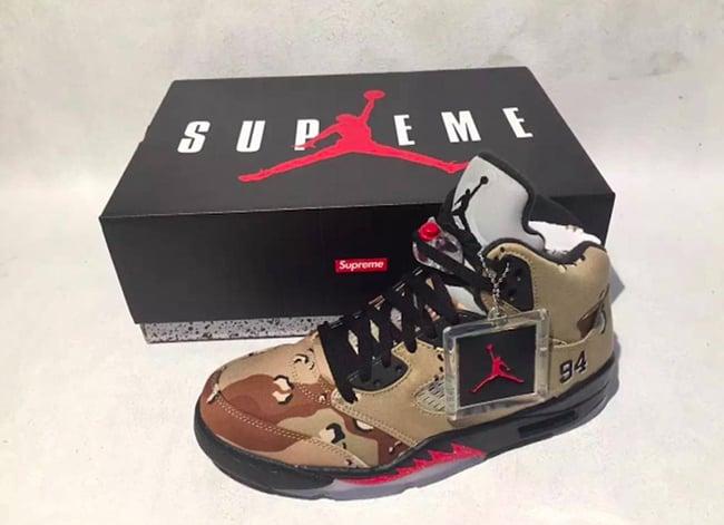 Supreme x Air Jordan 5 Retail Price