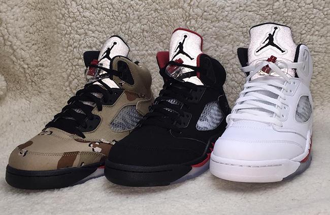 Supreme Air Jordan 5 White