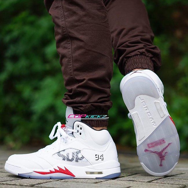 1fc0834088b Supreme Air Jordan 5 White | SneakerFiles